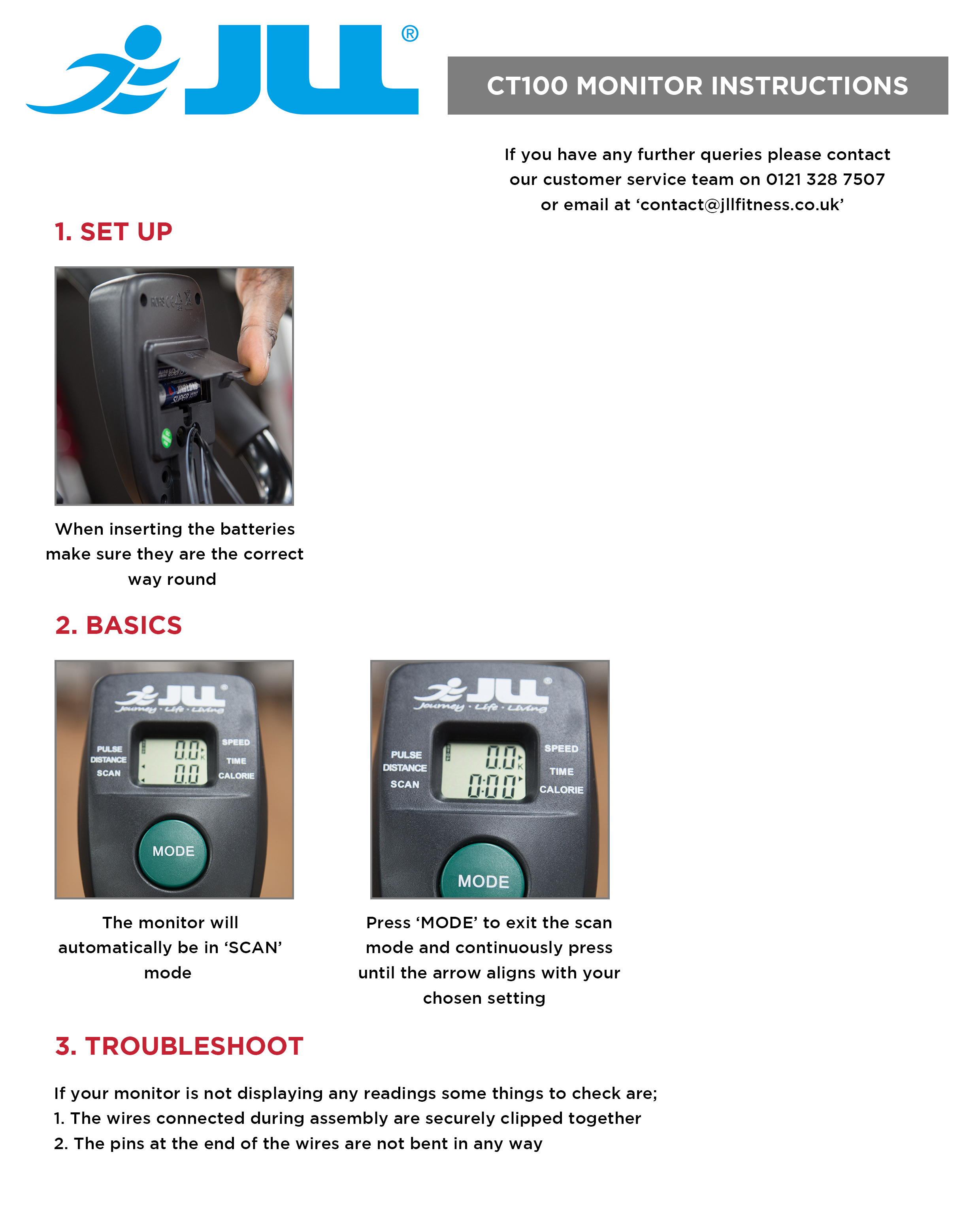 CT100 Monitor Instructions