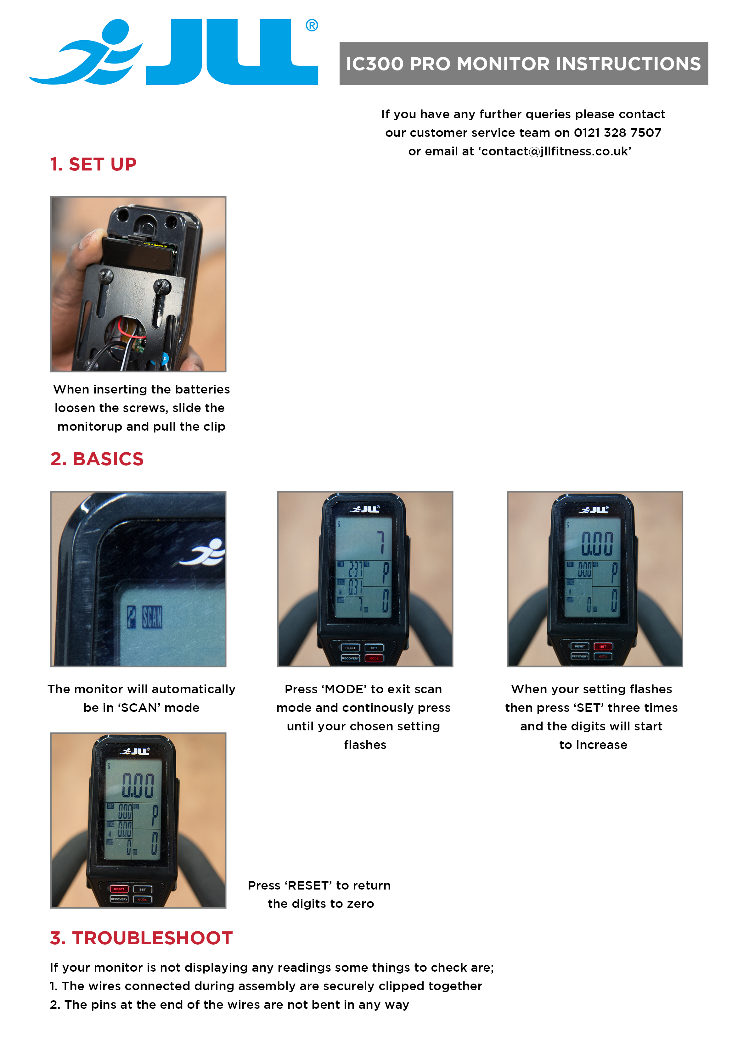 IC300 PRO Monitor Instructions